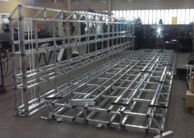 Kratownice aluminiowe 2x8 metrów z profili prostokątnych